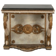 19th Century Painted and Gilded Italian Console
