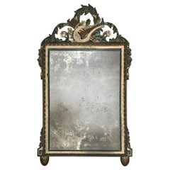 19th Century Painted and Gilt Louis XVI Mirror