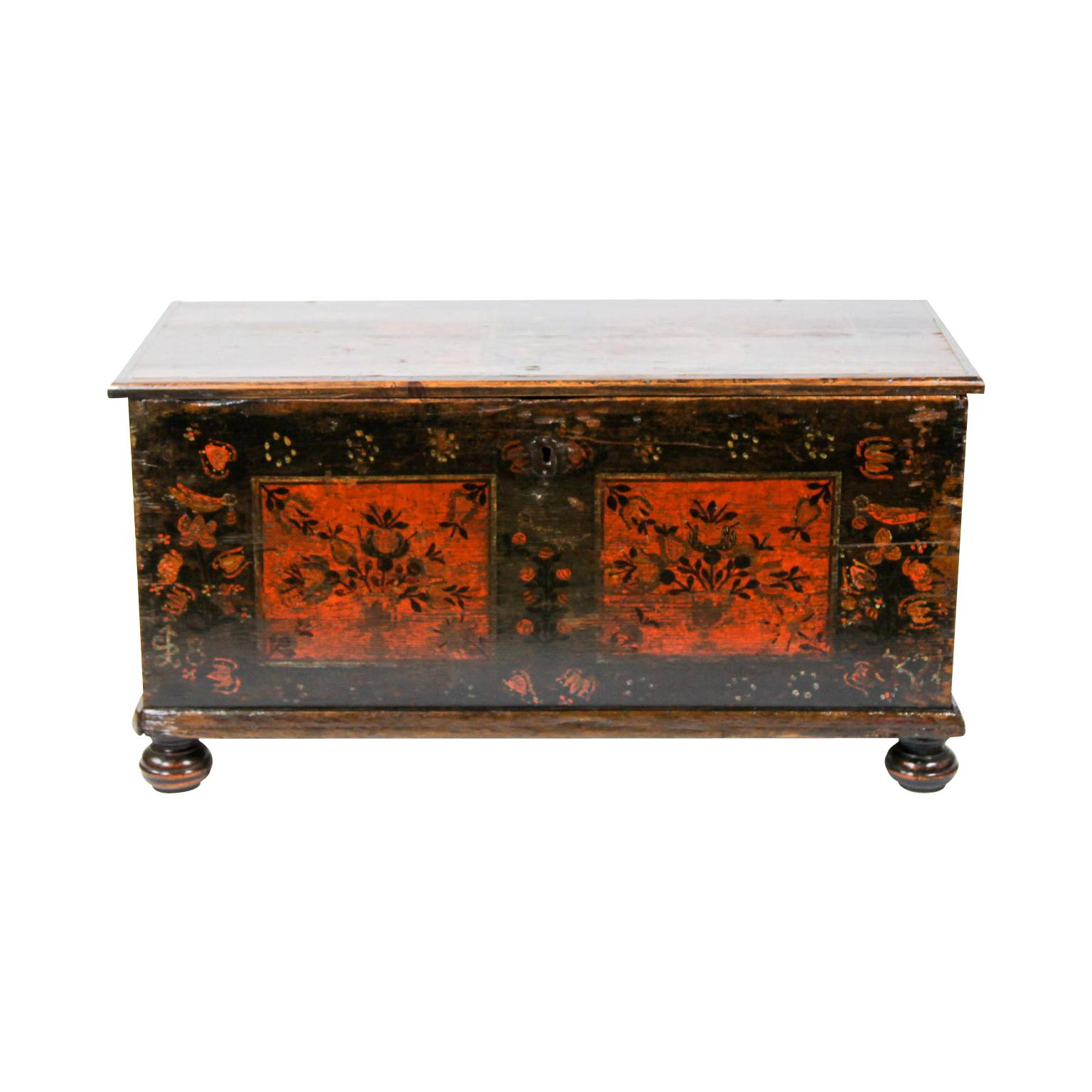 19th Century Painted Blanket Chest
