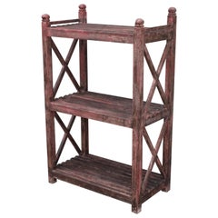19th Century Painted Bread Rack-Shelf