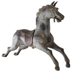19th Century Painted Carousel Horse