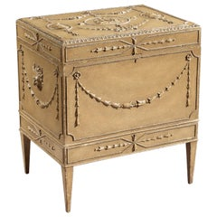 19th Century Painted Carton Pierre Chest/Cellaret in the Adam Neoclassical Style