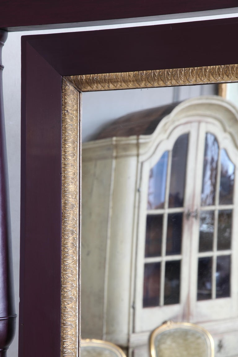 19th Century Painted Cheval Mirror In Good Condition For Sale In London, GB
