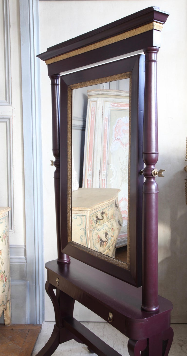 19th Century Painted Cheval Mirror For Sale 2