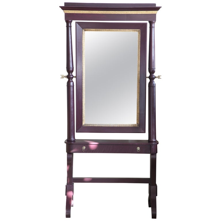 19th Century Painted Cheval Mirror For Sale