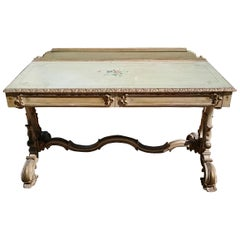 19th Century Painted Dressing Table or Serving Table
