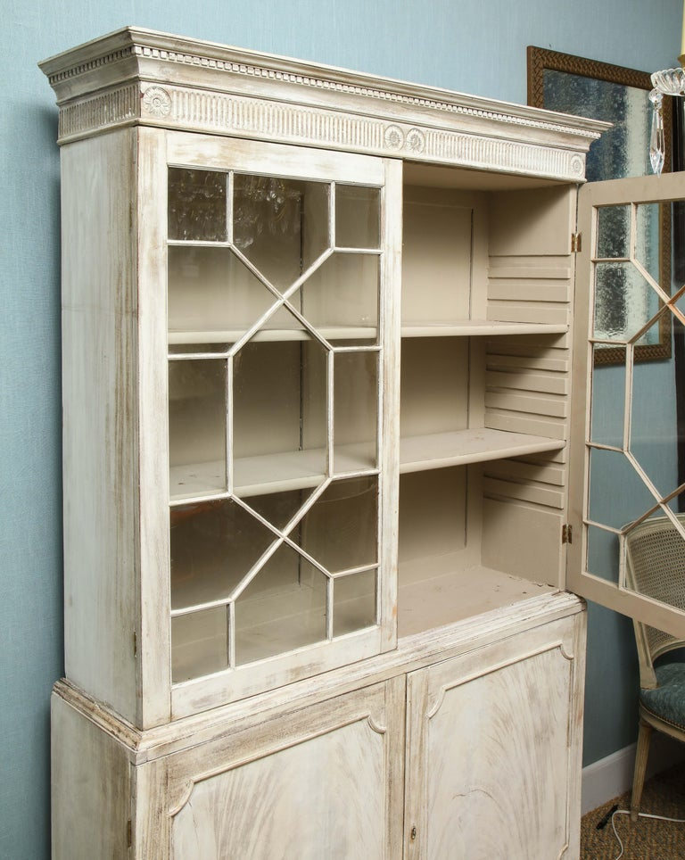 19th Century Painted English Cabinet For Sale 9