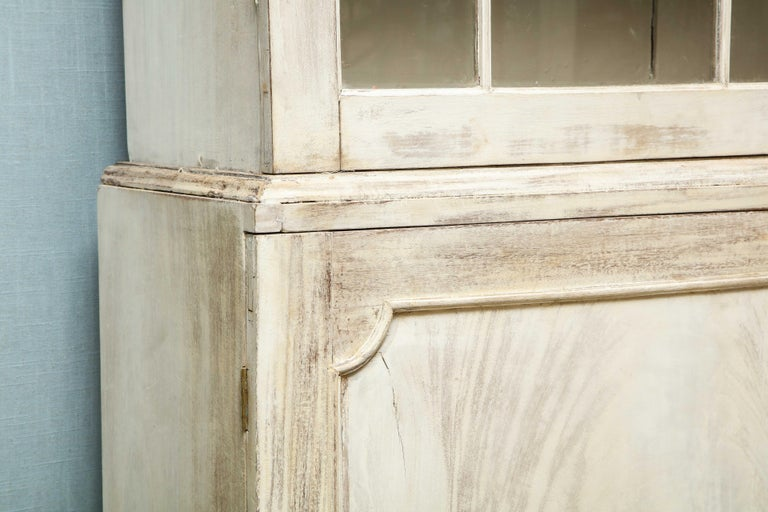20th Century 19th Century Painted English Cabinet For Sale