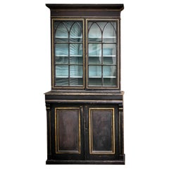 19th Century Painted Estate Bookcase