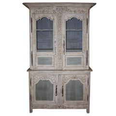19th Century Painted French Buffet a' Deux Corps