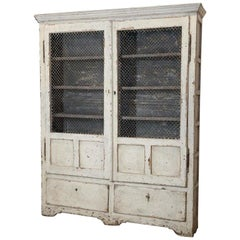 19th Century Painted French Cabinet