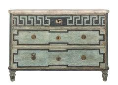 19th Century Painted Gustavian Dresser