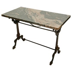 19th Century Painted Iron Base Serving Table, France, circa 1860