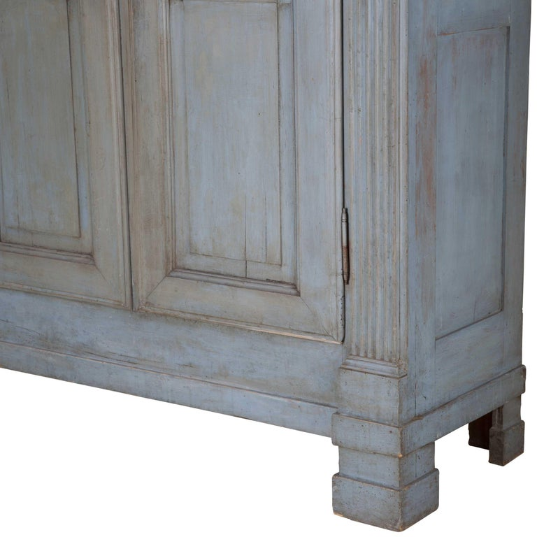 Wood 19th Century Painted Italian Armoire For Sale