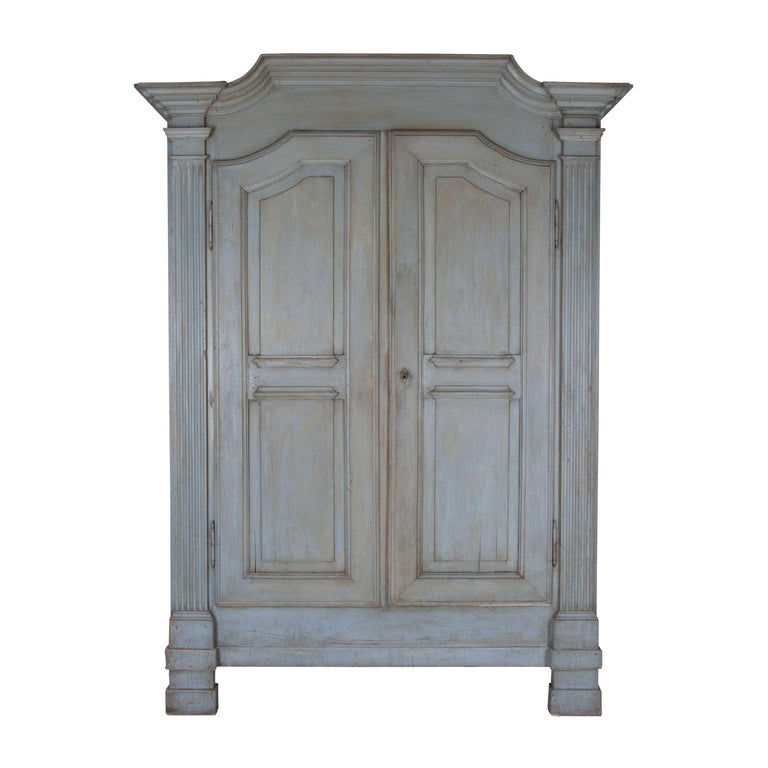 19th Century Painted Italian Armoire For Sale