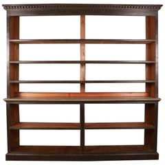 19th Century Painted Open Bookcase