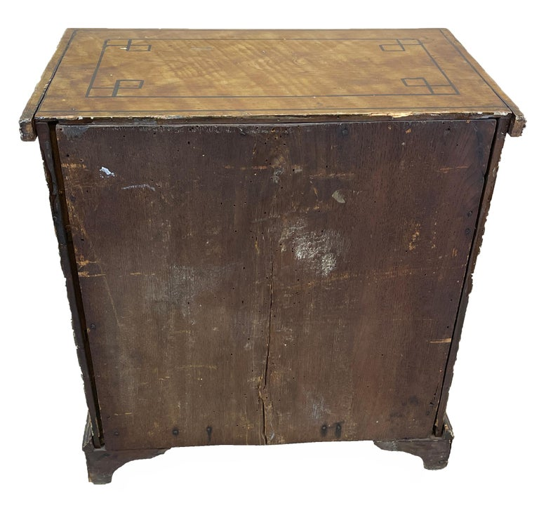 19th Century Painted Pine Miniature Chest For Sale 3
