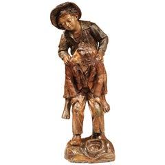 19th Century Painted Polychrome Terracotta Sculpture Signed G. Van Vaerenbergh