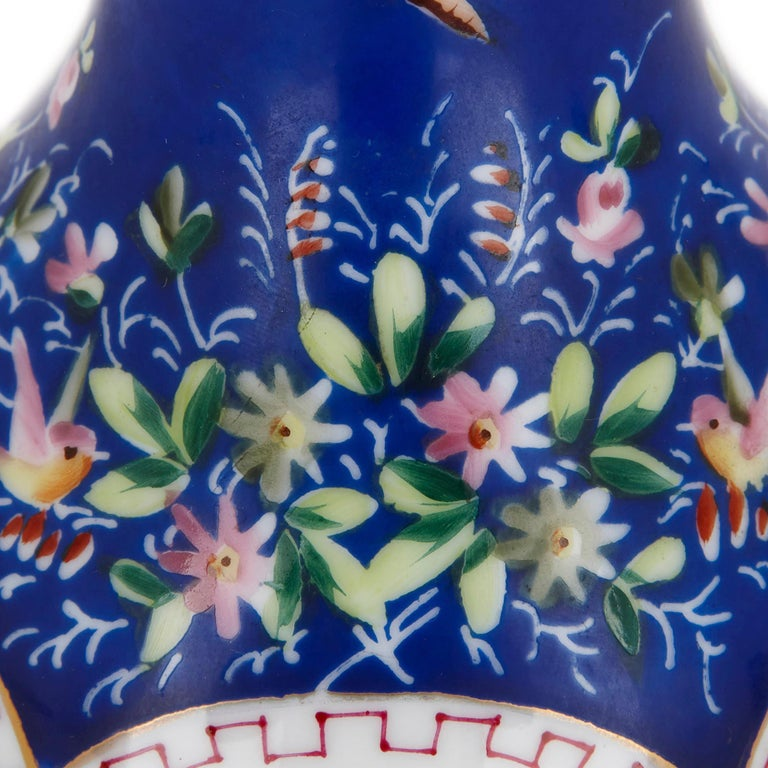 Russian 19th Century Painted Porcelain Huqqa Base For Sale
