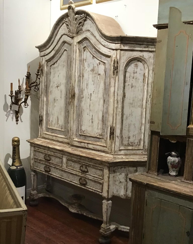 19th Century Painted Swedish Cabinet For Sale 2