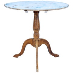 19th Century Painted Swedish Tilt-Top Occasional Table