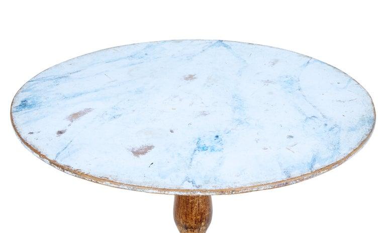 19th Century Painted Swedish Tilt-Top Table 4