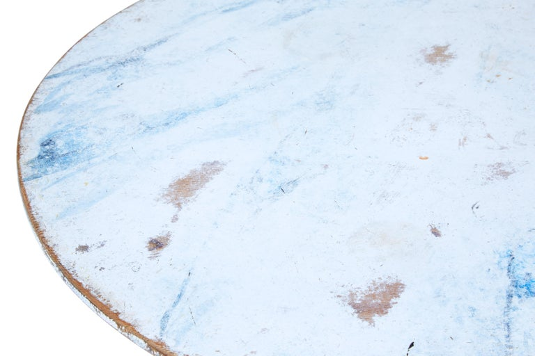 19th Century Painted Swedish Tilt-Top Table 5