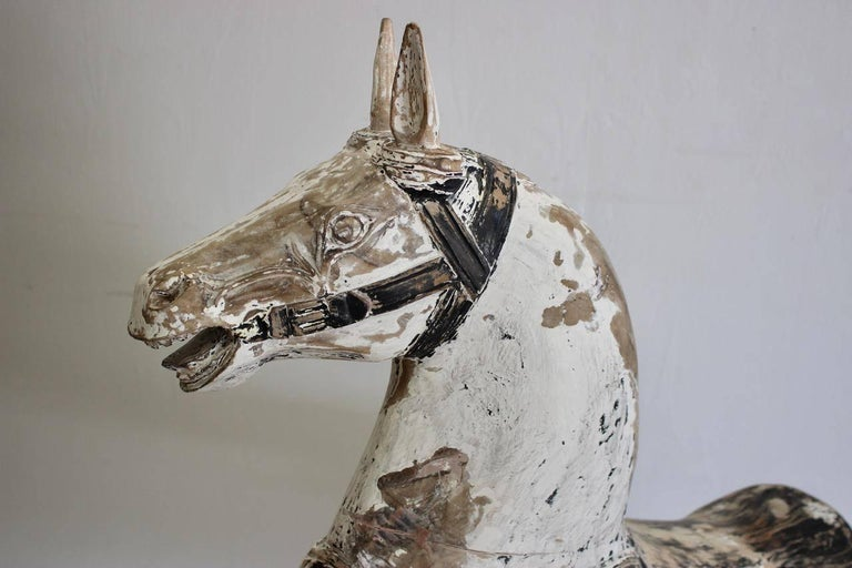 19th Century Painted Swedish Wooden Horse