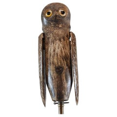 19th Century Painted Wood Owl Decoy