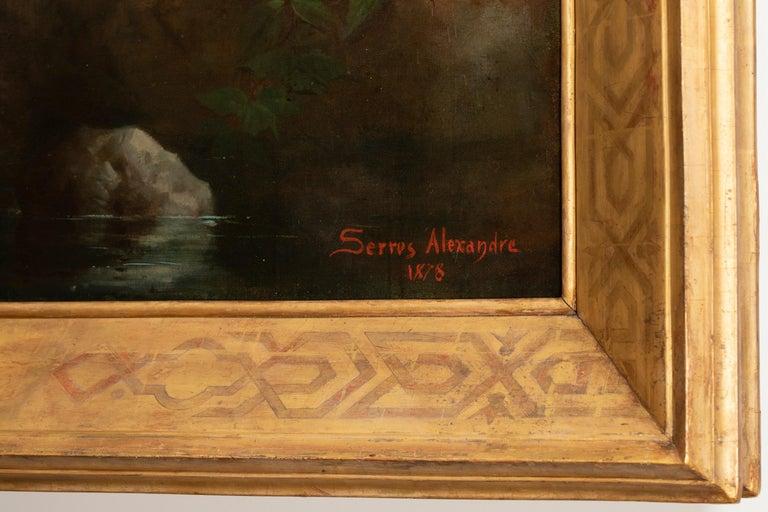 Napoleon III 19th Century Painting Alexandre Serres, Une Idylle For Sale