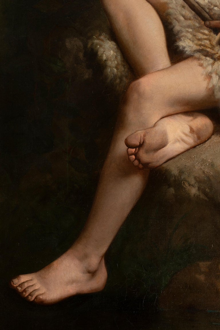 Oiled 19th Century Painting Alexandre Serres, Une Idylle For Sale