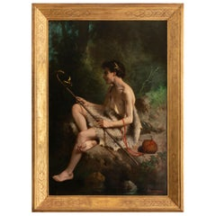 19th Century Painting Alexandre Serres, Une Idylle