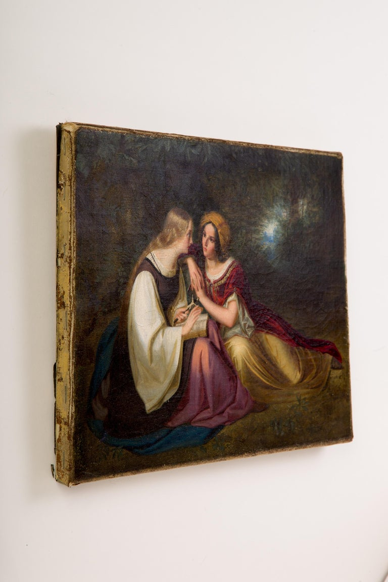 English 19th Century Painting by Francis Philip Stephanoff of Pious Maidens For Sale