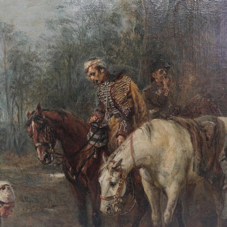 Empire 19th Century Painting by Robert Alexander Hillingford Napoleon and His Troops For Sale