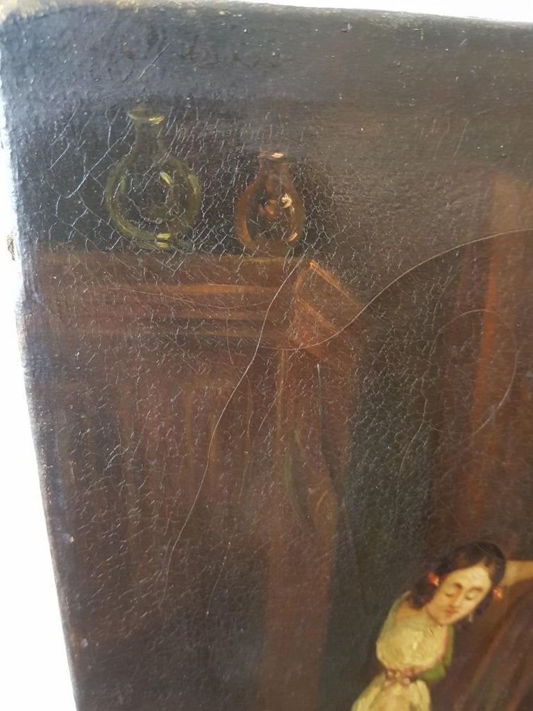 19th Century Painting of a Antique Dealer/Notary, Signed Francois M.J. Delporte For Sale 6