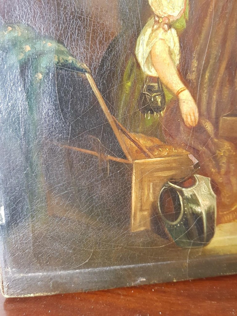 19th Century Painting of a Antique Dealer/Notary, Signed Francois M.J. Delporte For Sale 2