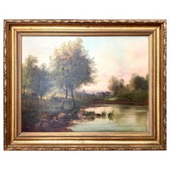 19th Century Painting Signed by French Artist Alphonse Levy, Oil on Canvas