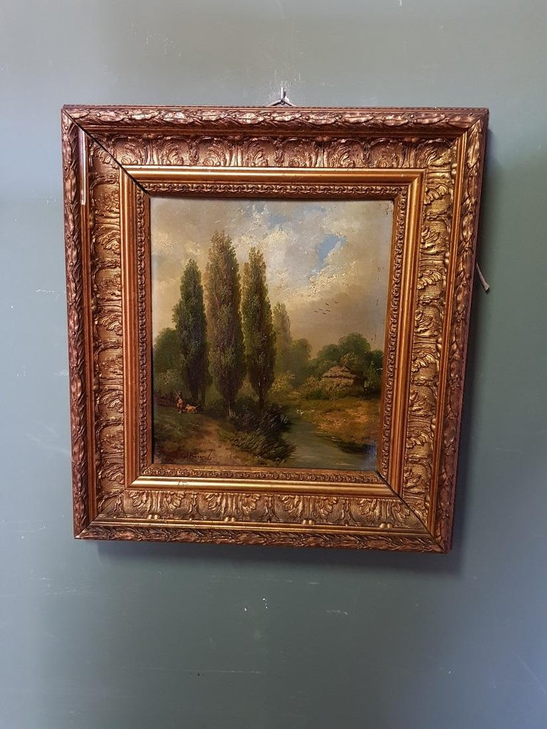 Hand-Painted 19th Century Paintings by Hermanus Jan Hendrik Rijkelijkhuysen For Sale