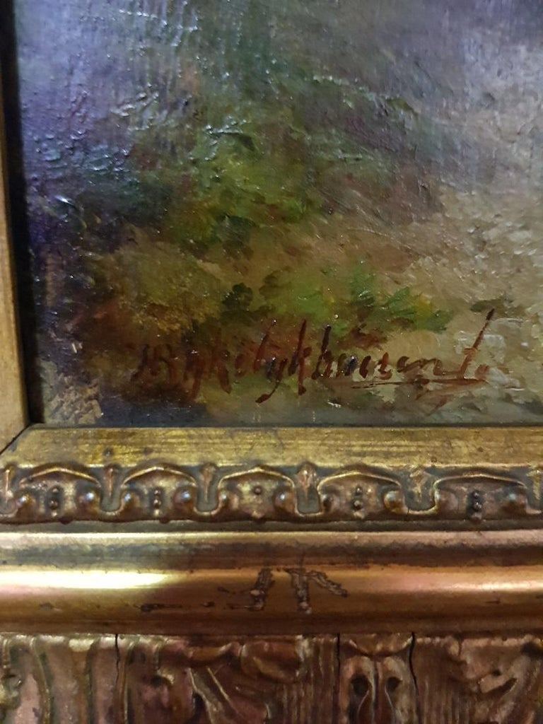 19th Century Paintings by Hermanus Jan Hendrik Rijkelijkhuysen In Good Condition For Sale In Raalte, NL