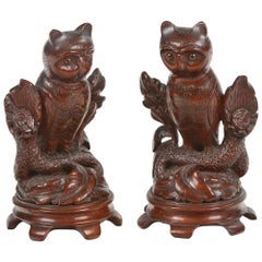 19th Century Pair of Animalier Sculptures