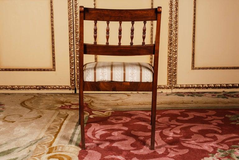 19th Century Pair of Biedermeier Style Mahogany Armchair Chair For Sale 1