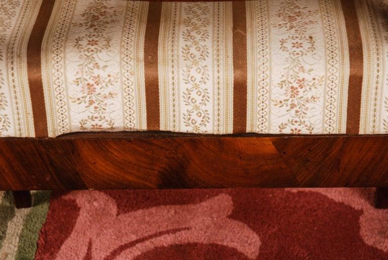 19th Century Pair of Biedermeier Style Mahogany Armchair Chair For Sale 5
