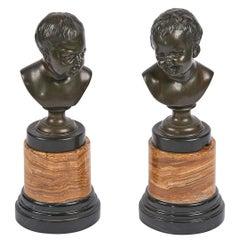19tes Jahrhundert paar figürliche Skulpturen aus Bronze