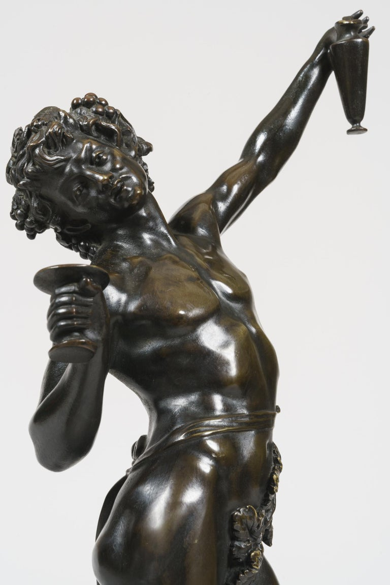 Renaissance Revival 19th Century Pair of Bronze Statues after Models by Clodion For Sale