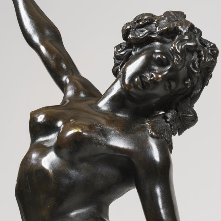 French 19th Century Pair of Bronze Statues after Models by Clodion For Sale