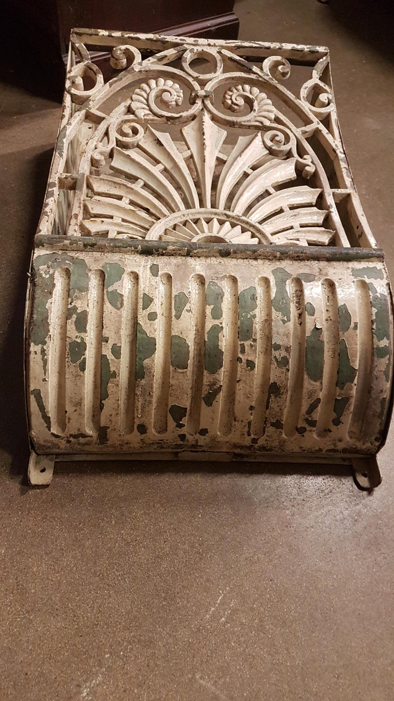 19th Century Pair of Cast Iron Wall Mounts in Original Paint For Sale 4