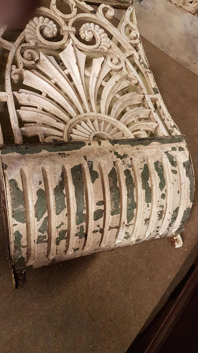 19th Century Pair of Cast Iron Wall Mounts in Original Paint For Sale 2