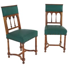 19th Century Pair of Catalan Accent Chairs