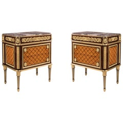 19th Century Pair of Commodes in the Louis XVI Manner after the Model by Leleu