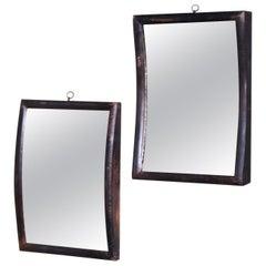 19th Century Pair of Distortion Mirrors, Concave & Convex Fairground Scientific